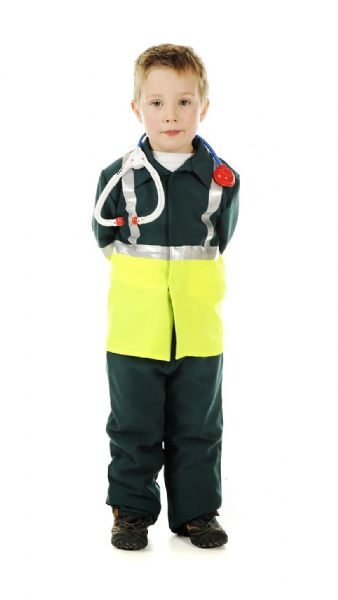 Children's Boys and Girls Paramedic Doctor Surgeon Fancy Dress Up Costume